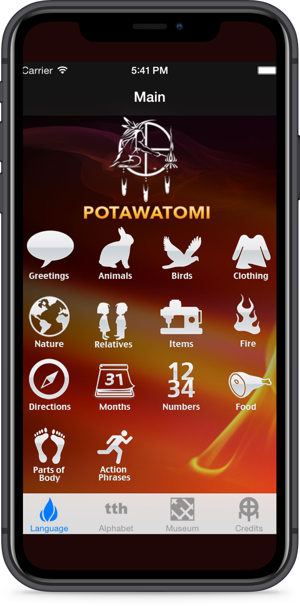 Potawatomi Language App