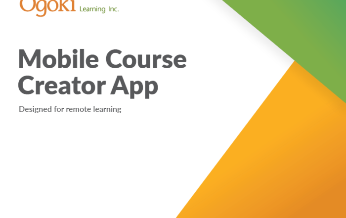 Mobile Course Creator App, designed for remote learning